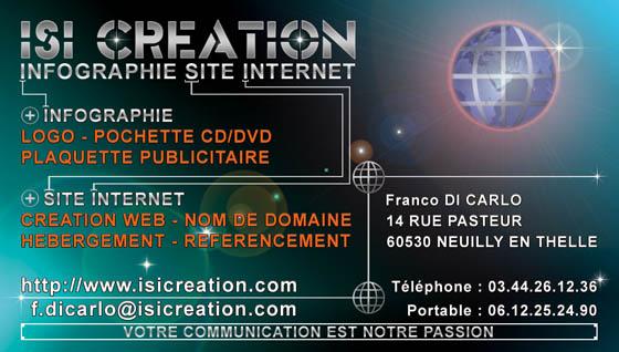 Carte De Visite ISI CREATION